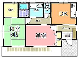 フローラルハイツオオバ 1階2SDKの間取り