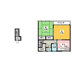 川井荘[2階]の間取り