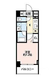 スプランディッド大阪WEST[405号室]の間取り