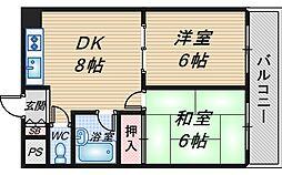 メゾン錦[302号室]の間取り