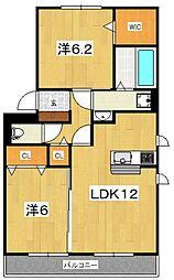 LA MER[301号室号室]の間取り