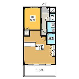 カサ・ボニータ[1階]の間取り