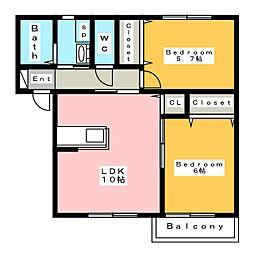 ケイズハウス A (K's HOUSE)[2階]の間取り