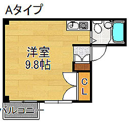 ボンジュールハナヤ[5階]の間取り