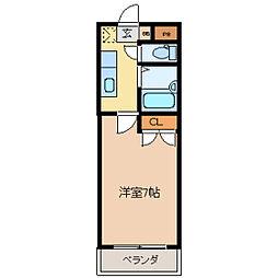 コタージュ壱番館[0305号室]の間取り