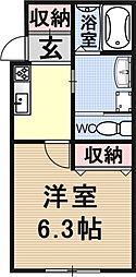 仮称)椥辻草海道町ハイツ[103号室号室]の間取り