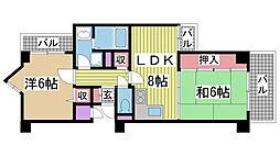 ライオンズマンション神戸西元町第2[8階]の間取り