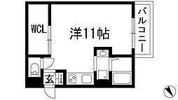 グロワール池田[2階]の間取り