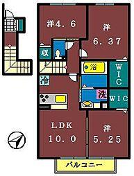 仮)レセンテ大和田新田[207号室]の間取り