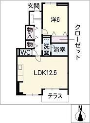 三重県鈴鹿市道伯5丁目の賃貸アパートの間取り