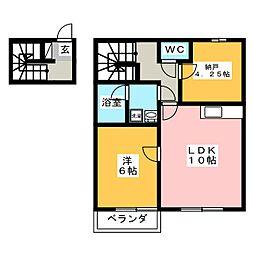 エス・コート八幡[2階]の間取り