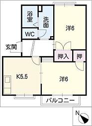フレグランス砂田B棟[1階]の間取り