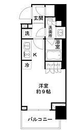 東京メトロ日比谷線 小伝馬町駅 徒歩4分の賃貸マンション 4階ワンルームの間取り