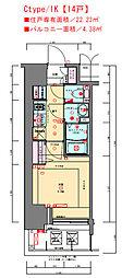 JR東海道・山陽本線 兵庫駅 徒歩3分の賃貸マンション 3階1Kの間取り