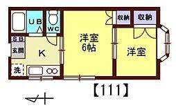ほうれん荘[111号室]の間取り