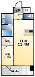 PHOENIX Clove Tomoi 3階1LDKの間取り