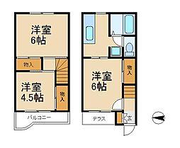 ベルデ吉田B棟[1階]の間取り