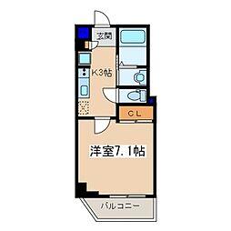 メゾン青空東戸塚[502号室]の間取り