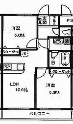 神奈川県川崎市麻生区万福寺5丁目の賃貸マンションの間取り