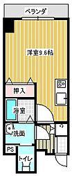 名古屋市営東山線 本山駅 徒歩6分の賃貸マンション 7階ワンルームの間取り