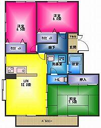 稲村ハイツ2[2階]の間取り