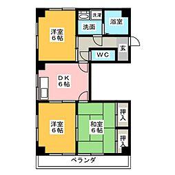 スカイマンションアサヒ[2階]の間取り