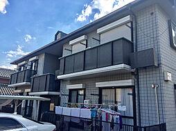 大阪府高槻市西真上1丁目の賃貸アパートの外観
