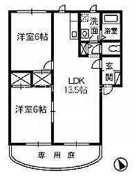 岡山県倉敷市大島丁目なしの賃貸アパートの間取り
