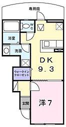 ビサイド・シーII[1階]の間取り