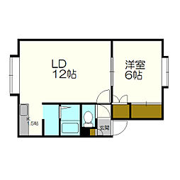 北海道札幌市白石区栄通20丁目の賃貸アパートの間取り
