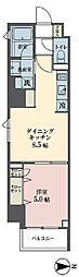 東京メトロ有楽町線 永田町駅 徒歩7分の賃貸マンション 10階1DKの間取り
