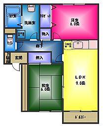 メイプルハウスA棟[1階]の間取り