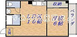 サンライズツイン関目1号館[601号室]の間取り