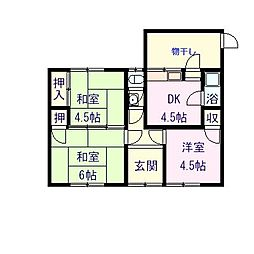 [一戸建] 愛媛県新居浜市桜木町 の賃貸【/】の間取り
