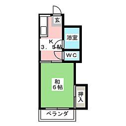 第2鈴木荘[2階]の間取り