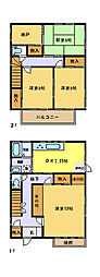 [一戸建] 埼玉県さいたま市中央区下落合2丁目 の賃貸【/】の間取り