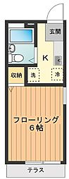 サンライフユゲタ[1階]の間取り