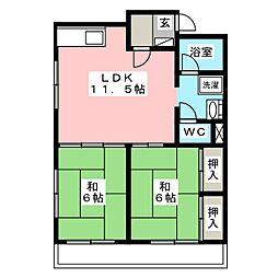 清原ビル[2階]の間取り