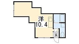 電交社ビル[401号室]の間取り
