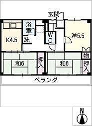 ビレッジハウス小田渕1号棟[2階]の間取り