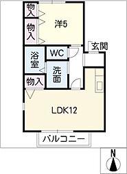 シャルマン藤江[2階]の間取り