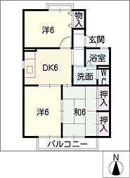セジュール木崎[2階]の間取り