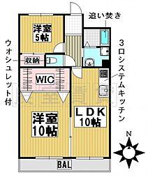 愛知県名古屋市千種区春里町2丁目の賃貸マンションの間取り