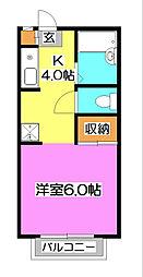 コスモスター秋津[2階]の間取り