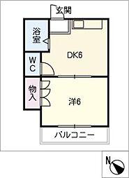 青雲ハイツ2[2階]の間取り