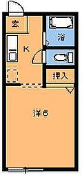 エルカーサ桜木II[203号室]の間取り