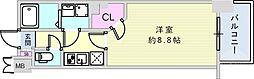 JR東海道・山陽本線 神戸駅 徒歩15分の賃貸マンション 2階1Kの間取り
