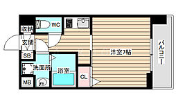 S-RESIDENCE福島grande 10階1Kの間取り