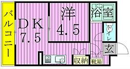 ジュネパレス松戸第21[105号室]の間取り