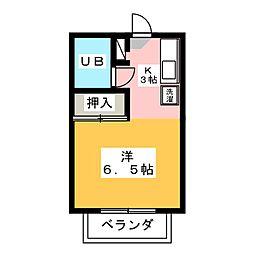 タウン唐山 B棟[2階]の間取り